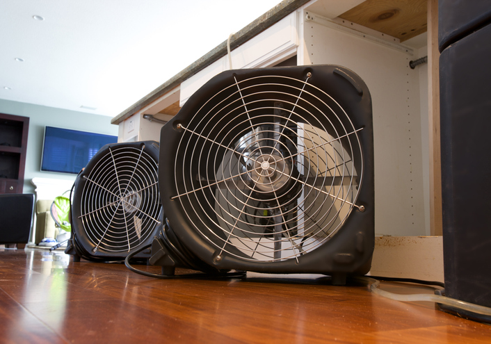 fans-drying-water-damage